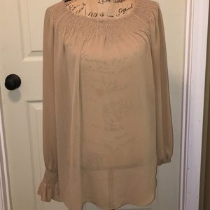Venezia Jeans Co Mocha Sheer Tunic Sz 14-16